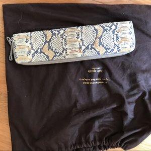 Kate Spade snakeskin clutch